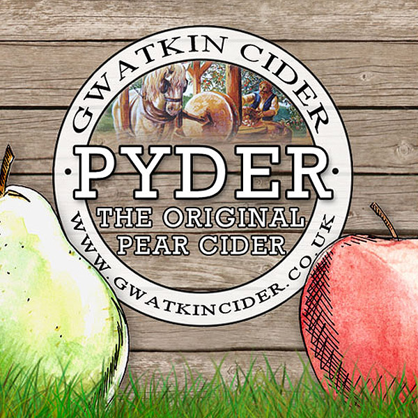 Pyder cider label for Gwatkin Cider