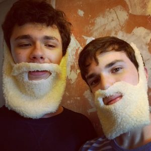 Trying to make realistic beards out of fleece....#failbeards