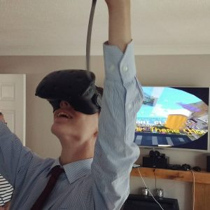 Enjoying VR Minecraft Enjoying VR Minecraft