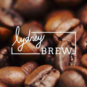 Hand drawn logo for lydney brew