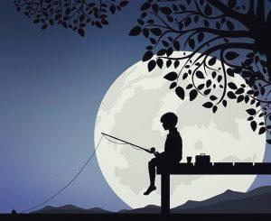 Oliver fishing. For Rossiter Books