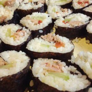 Marcel making sushi for us tonight Marcel making sushi for us tonight