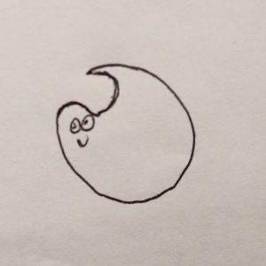 A shy blob